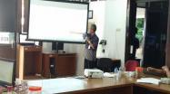 Kepala DKPUS Babel Dr Asyraf Suryadin saat memimpin rapat pemantapan penilaian pengawasan kearsipan DKPUS Babel, Jumat (9/10/2020).