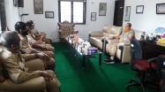 Sekdis DKPUS Babel Agus Affandi menerima kunjungan dari Dinas Perpustakaan dan Kearsipan Kabupaten Bangka Barat.
