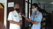 Kepala DKPUS Babel Dr Asyraf Suryadin saat diwawancara