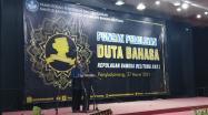 Kepala DKPUS Babel Asyraf Suryadin membuka Grand Final Pemilihan Duta Bahasa Babel Tahun 2021 di Hotel Bangka City, Pangkalpinang, Sabtu (27/3/2021).