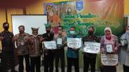 Kepala DKPUS Babel Dr Asyraf Suryadin foto bersama Pemenang dan Dewan Juri.