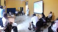 Kepala DKPUS Babel Dr Asyraf Suryadin membuka Lomba Arsiparis Teladan Tingkat Prov. Kep. Babel Tahu 2020, Rabu 5 Agt 2020.