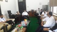 Rakhmadi Kepala DKPUS Babel menerima kunjungan Kepala DPK Pangkalpinang, 9 Juni 2021 di Ruang Kerja Kepala DKPUS Babel.